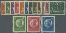 Schweden: 1924, Weltpostkongreß In Stockholm Kompletter Satz Ungebraucht Mit Falz, Mi. € 1.300,-- Für **