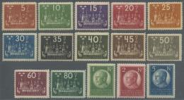 Schweden: 1924, 8. Weltpostkongress Stockholm, 5 Ö Bis 1 Kr., Gut Gezähnt Und Postfrisch, Unsigniert (Mi.&euro
