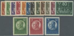 Schweden: 1924, Weltpostkongreß In Stockholm Kompletter Satz Postfrisch Dabei Die Kronen-Werte Sign. Bzw. FA Caffa