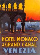 """D5878 """"HOTEL MONACO & GRAND CANAL - VENEZIA - ITALY"""" ETICHETTA ORIGINALE - ORIGINAL LABEL - Adesivi Di Alberghi"""