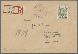 """Russische Post In Der Levante - Staatspost: 1913, 2 Pia./20 K. Tied Violet """"ROPIT JAFFA -7 3 13"""" To Registered Cover To"""
