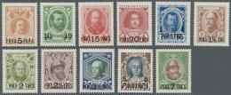 """Russische Post In Der Levante - Staatspost: 1913, """"5 Pa"""" Bis """"50 Pia"""" Romanow-Ausgabe Mit Überdruck In Türkisc"""