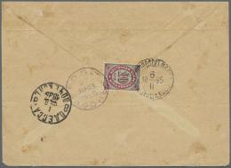 "Russische Post In Der Levante - Staatspost: 1890, 10 K.  Tied """"ROPIT ATHOS 27 JAV 1895"" To Reverse Of Envelope (faults)"