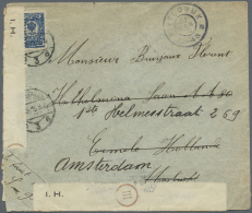 Russland: 1915, 10 K Blue Single Franking On Cover From Petrograd, 8.12.15, Addressed To Ermelo In The Netherlands And M