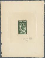 "Polen: 1947, 15 Zl. Fisher As ""Epreuve D´Artististe"" From French Designer DUFRESNE In Green Instead Of Blue. Very"