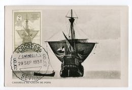 !!! CARTE MAXIMUM CARAVELLE DE COLOMB CACHET DU 29/9/1930 - Tarjetas Máxima