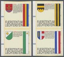 Liechtenstein: AUTOMATENMARKEN: 1995, Gemeindewappen, Elf Verschiedene Senkrechte Zusammendruckpaare, Je Ohne Werteindru