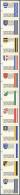 Liechtenstein: AUTOMATENMARKEN: 1995, Gemeindewappen, Alle Elf Werte Im Senkrechten Zusammendruckstreifen, Je Ohne Werte