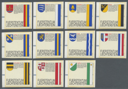 Liechtenstein: AUTOMATENMARKEN: 1995, Gemeindewappen, Alle Elf Werte Je Ohne Werteindruck, Postfrisch.