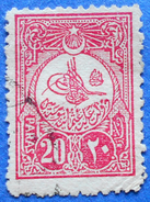 TURKEY EMP OTTOMAN 20 Paras 1908 Mic: 136  Perf: 12 - USED - Used Stamps
