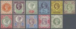 Großbritannien: 1887, 50 Years Regency QV ½ D To 1 Sh Almost Complete Set (cheap 5d Missing) Mint LH, 1 Sh.