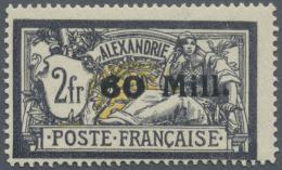 """Französische Post In Ägypten - Alexandria: 1921. Merson 60m/2f, Gras Chiffre """"60"""" (tirage 6), Signé Rou"""