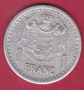 Monaco - Louis II - 1 Franc Aluminium (1943) - Monaco