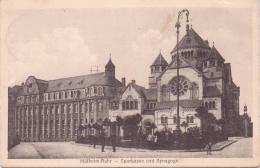 ALTE AK  MÜHLHEIM A.R. / NRW  - Sparkasse Mit Synagoge -  Gelaufen 1915 - Muelheim A. D. Ruhr