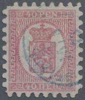 Finnland: 1866, Freimarke Wappen, 40 Pen Rosakarmin, In Zähnung A, Signiert Diena
