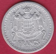 Monaco - Louis II - 2 Francs Aluminium (1943) - SUP - Mónaco