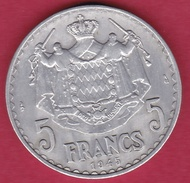 Monaco - Louis II - 5 Francs Aluminium (1943) - Mónaco