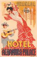 "D5886 ""HOTEL ALHAMBRA PALACE - GRANADA  - SPAGNA"" ETICHETTA ORIGINALE - ORIGINAL LABEL - Adesivi Di Alberghi"