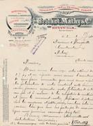 Facture 1920 / BRICHET MATHY / Fonderie De Fer / Fonte / 08 Revin Ardennes - Other