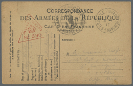 """Französische Besetzung I. WK - Insel Ruad: 1917, French Field Postcard From """"ILE ROUAD POSTES FRANCIASE 18.7."""" With"""