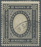 Finnland: 1901, 10 M. Gestempelt, Saubere Bedarfszähnung, Gesuchter Wert, Mi: 220,-
