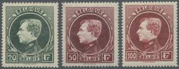 Belgien: 1929/1941, Freimarken: König Albert I., Mechelner Druck, Postfrisch (Mi. € 1.085,-).