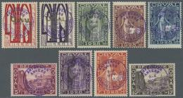 Belgien: 1929, Wiederaufbau Der Abtei Orval Mit Violetten Handstempelaufdruck Zu Den Philatelistentagen In Antwerpen, Ko