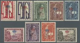 Belgien: 1929, Wiederaufbau Der Abtei Orval Kompletter Satz Mit Blauem Bzw. Rotem Aufdruck Des Monogramms Von Kronprinz