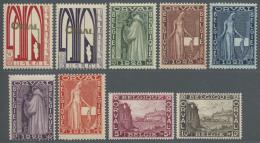 Belgien: 1928, Wiederaufbau Der Abtei Orval (I), Tadellos Postfrische Serie (C.O.B. € 345,-).