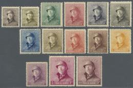 Belgien: 1919/1920, Freimarken: König Albert I. Mit Helm, Ungebraucht, Tadellos, Falzrest (C.O.B. Für Ungebrau