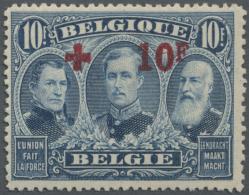 Belgien: 1918, Rotes Kreuz, Taufrisches Exemplar (C.O.B. Für Postfrisch €550,-).
