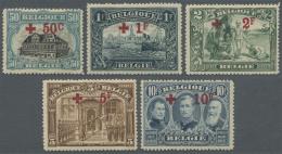 Belgien: 1918, Rotes Kreuz, 50 C. - 10 Fr. Tadellos Postfrisch (C.O.B. €3.285,-).