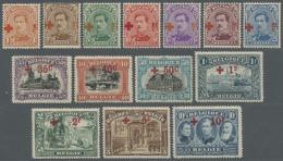 Belgien: 1918, Rotes Kreuz, Taufrische Luxusserie Ungebraucht, Kleiner Falz, 10 Fr. Praktisch Postfrisch (C.O.B. €