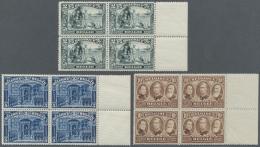Belgien: 1915/1919, Freimarken: Ansichten + Freimarke Mi.Nr. 127 Mit Berichtigter Inschrift FRANK Statt FRANKEN, Postfri