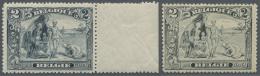 """Belgien: 1915, Freimarken: Ansichten, 2 Postfrische Exemplare, 1x Abart """"White Neger"""" (C.O.B. Nr. 146+146b €280,-)."""
