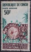 CONGO PA Y&T 30 (o) UNITE NATIONALE 50F  RECTO VERSO - Congo - Brazzaville