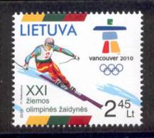 4.- LITHUANIA LITUANIE 2010. OLYMPIC AND PARALYMPIC GAMES VANCOUVER. WINTER GAMES - Invierno 2010: Vancouver