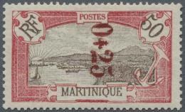 """Martinique: 0,25 Auf 50 C. Landschaften Mit Der Variante """"Druck Des Mittelstücks Nach Oben Verschoben"""""""