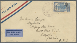 Martinique: 1933, Airmail From PORTO DE FRANCE - MARTINIQUE Sent To Kingston, Jamaica. Arrival Mark On Back.