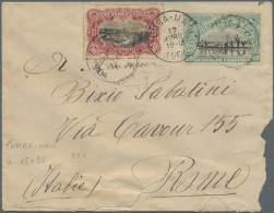 Belgisch-Kongo: 1904, Letter With 10 And 40 Cent 1894 And 1896 Issue. Sent From TUMBA-MANI  To Rome.Some Heavier Opening
