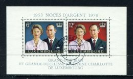 LUXEMBOURG  -  1978  Royal Wedding  Miniature Sheet  Used As Scan - Luxembourg