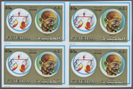 Thematik: Persönlichkeiten - Gandhi / Personalities - Gandhi: 1973 GANDHI Issue Of Fujeira 40dh. Showing SHIFTED CO