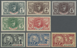 Französisch-Guinea: 1906/1907, Definitives 1c. To 5fr., Complete Set Of 15 Stamps, Unmounted Mint. Maury 530,- &eur