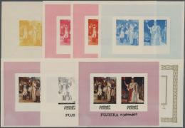 Thematik: Napoleon: 1970, BICENTENARY OF THE BIRTH OF NAPOLEON - 8 Items; Fujeira, Progressive Plate Proofs For The Souv