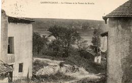 LANFROICOURT....le Chateau Et La Ferme Du Moulin...rare...au Dos Tampon De Leyr   1929 - Francia