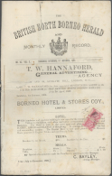 "Nordborneo: 1892, ""THE BRITISH NORTH BORNEO HERALD"", Complete Newspaper Franked With Horizontal Pair 1/2d Magenta. - North Borneo (...-1963)"