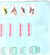 Pakistan, Postal Stationery 4 Diff. Birds 2 - Pakistan