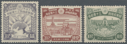 Japan: 1936, Kwantung Administration 30 Years Set, Unused Mounted Mint First Mount LH, Very Clean Condition (Michel Cat.
