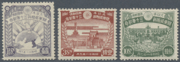 Japan: 1936, Kwantung 30 Years Administration Set, Unused Mounted Mint First Mount LH (Michel Cat. 360.-).
