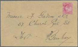 Indien - Flugpost: 1911 (18. Feb.), Erste Flugpost, Brief (minimale Mängel, Rechts Knick) Mit 1 A. Rot Mit Rotem So